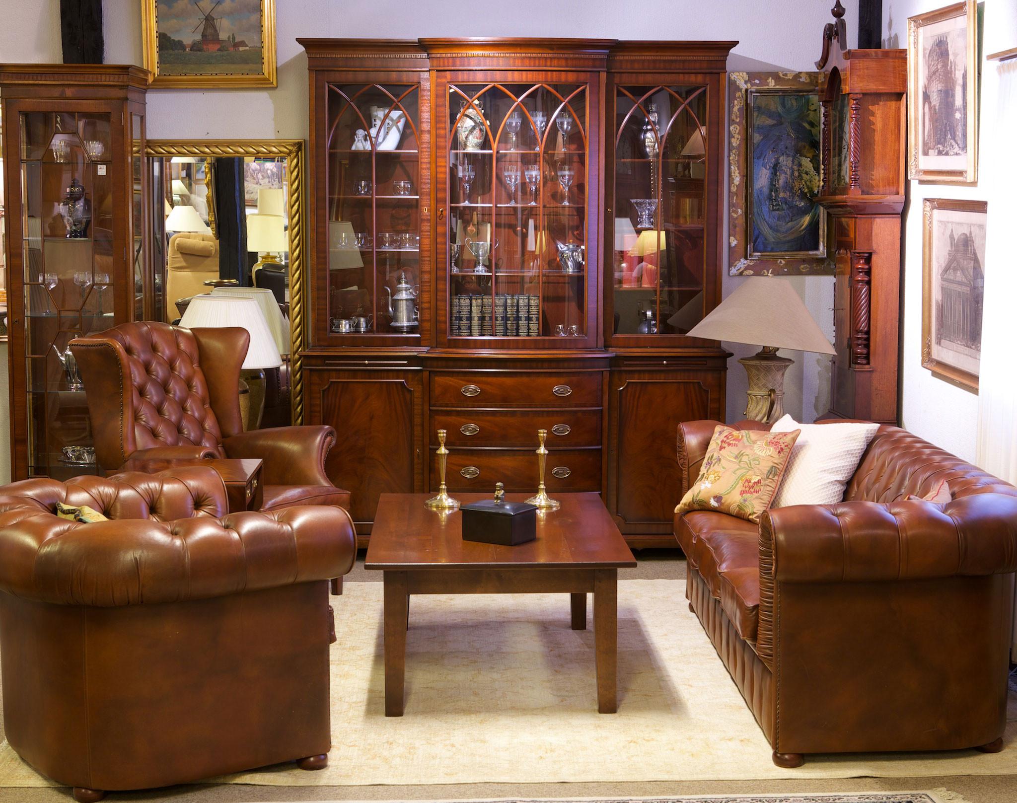 Original Chesterfield Sofa I Klassisk L 230 Der Og Solid Kvalitet